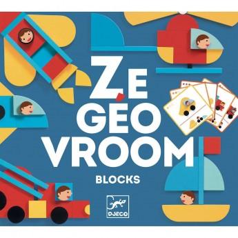 Djeco Ze Geo Vroom układanka kształty z pojazdami +3   Dadum Kraków