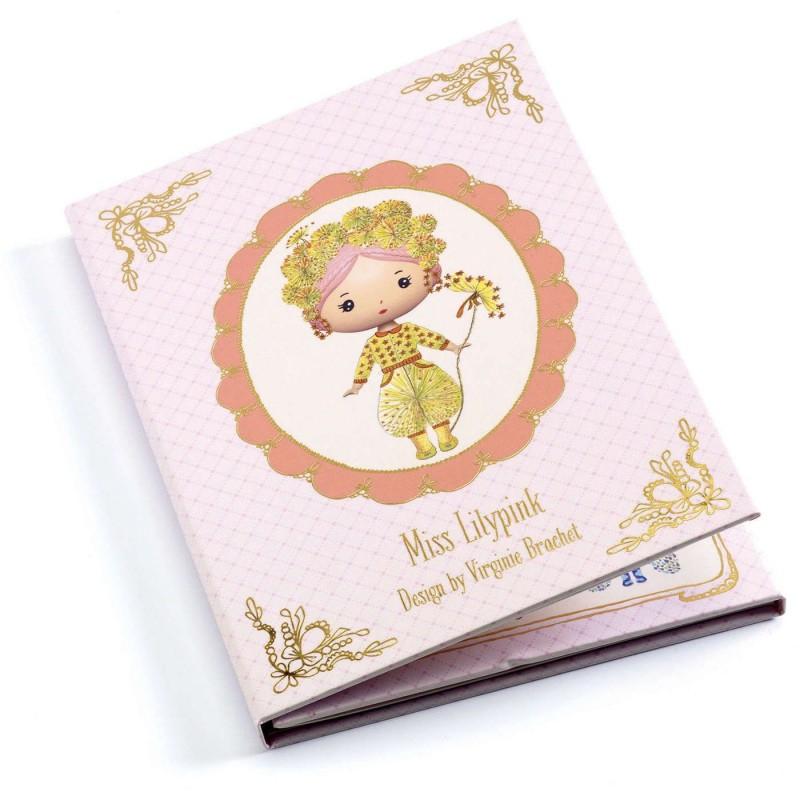 Djeco Ubieranka z naklejkami Miss Lilypink dla dzieci +4
