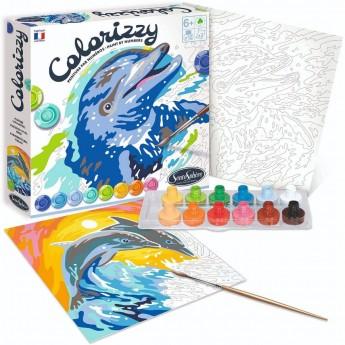 SentoSphere COLORIZZY Delfiny malowanie po numerach