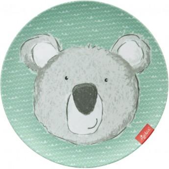 Sigikid Talerzyk dla dziecka Miś Koala miętowy z melaminy | Dadum