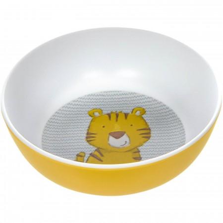 Sigikid Miseczka dla dziecka Tygrys żółta z melaminy   Dadum