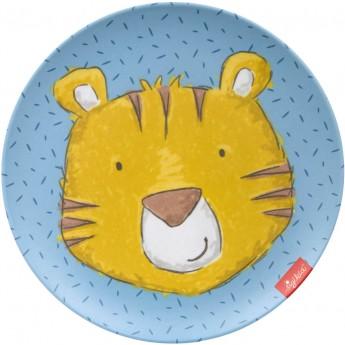 Sigikid Talerzyk dla dziecka Tygrys niebieski z melaminy | Dadum