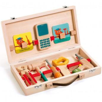 Djeco Super Bricolo narzędzia majsterkowicza dla dzieci