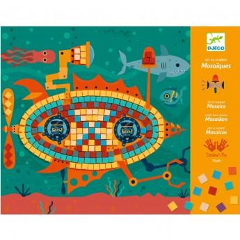 Djeco ZA KIEROWNICĄ Mozaika piankowa błyszcząca dla dzieci +4