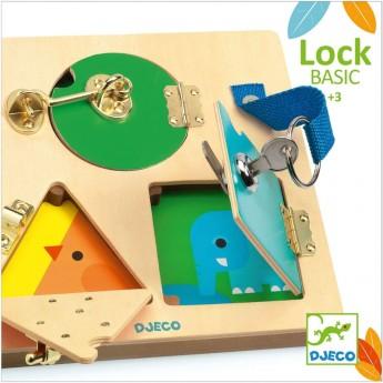 Djeco LockBasic gra zręcznościowa do nauki zamków +3 | Dadum Kraków