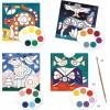 Djeco Kolorowe Zwierzęta 4 obrazy do malowania z farbami +6 | Dadum Kraków