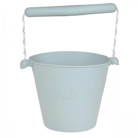 Wiaderko do piasku dla dzieci silikonowe błękitne Scrunch Bucket