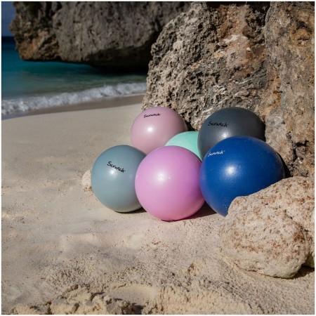 Piłka plażowa Scrunch - Pudrowy Róż dla dzieci od 3 lat