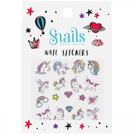 Naklejki na paznokcie dla dzieci Unicorn, Snails