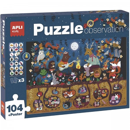 Apli Kids Puzzle obserwacyjne Las 104 el 5+