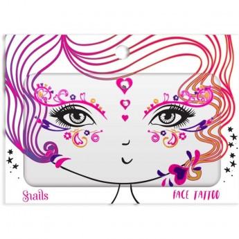 Naklejki na twarz Face Tattoo Snails - Queen Of Hearts