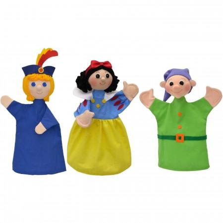3 pacynki na rękę Królewna Śnieżka, Krasnal i Książę | Dadum