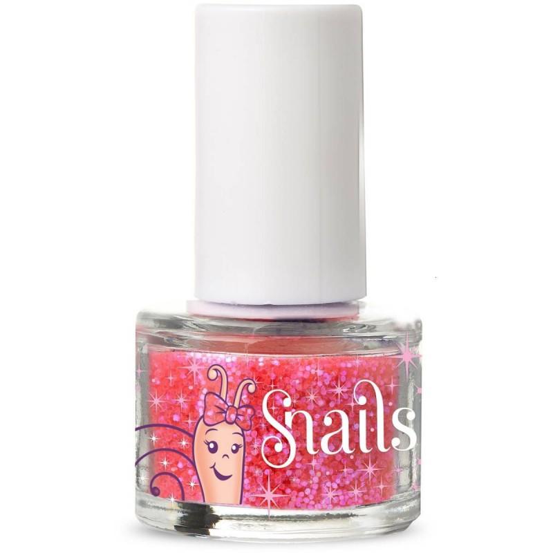 Snails różowy brokat do paznokci dla dziewczynki +3