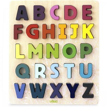 Vilac ABC Alfabet układanka drewniana dla dzieci +2 | Dadum
