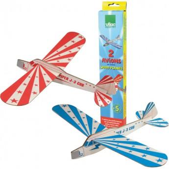 Samolot z balsy 2 sztuki zabawka dla dzieci od 5 lat, Vilac