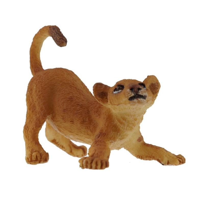 Młody lew bawiący się figurka, Papo