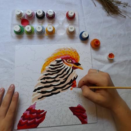 SentoSphere COLORIZZY Ptaki malowanie po numerach 4501