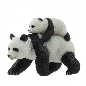 Panda mama z maluchem figurka, Papo