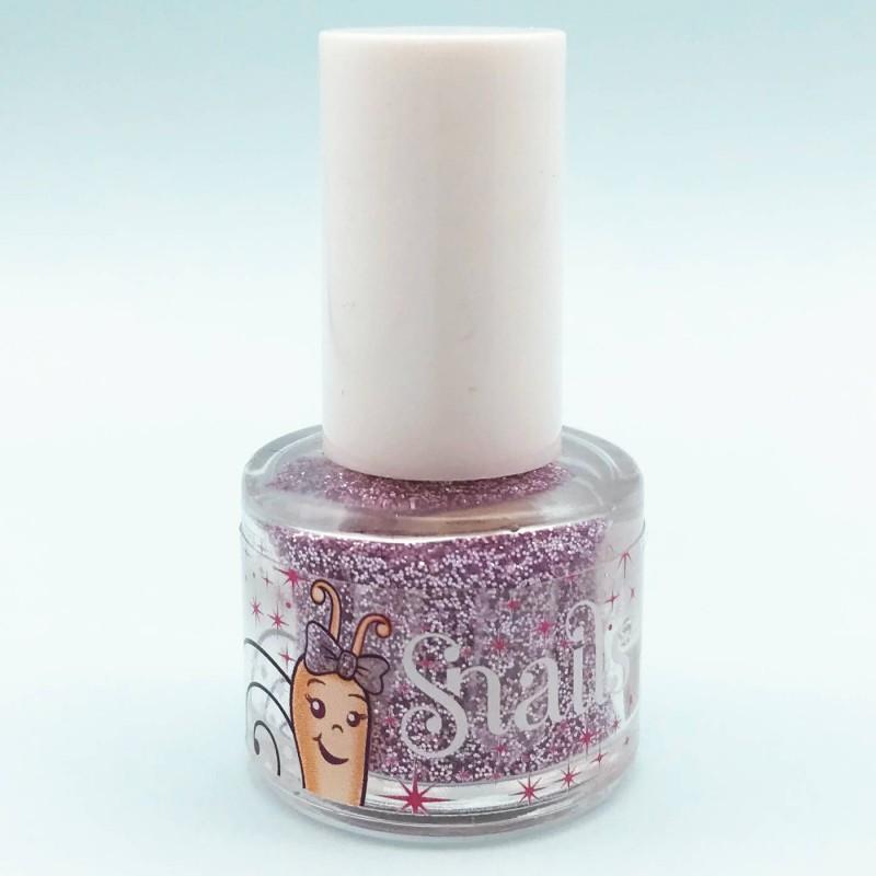 Snails liliowy brokat do paznokci dla dziewczynki +3 | Dadum
