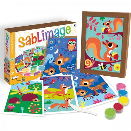 Zwierzęta Lasu kolorowe piaski Sablimage, SentoSphere
