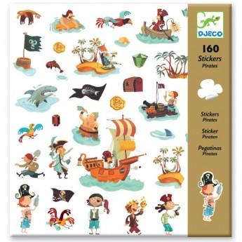 Djeco Naklejki Piraci zestaw 160szt dla dzieci od 4 lat