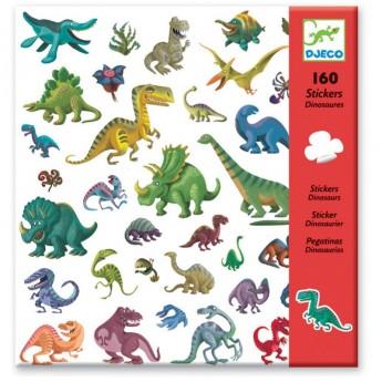 Djeco Naklejki Dinozaury zestaw 160szt dla dzieci +4