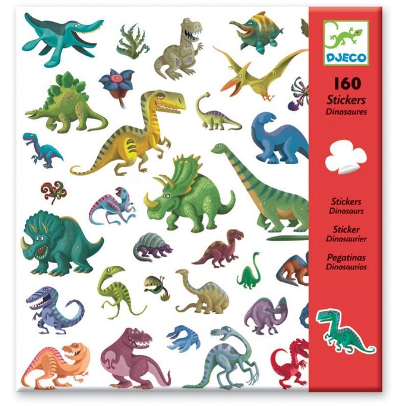 Djeco Naklejki Dinozaury zestaw 160szt dla dzieci +4 | Dadum Kraków