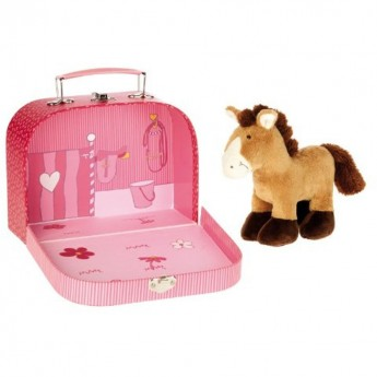 Pluszowy koń w boksie zabawka, Sigikid