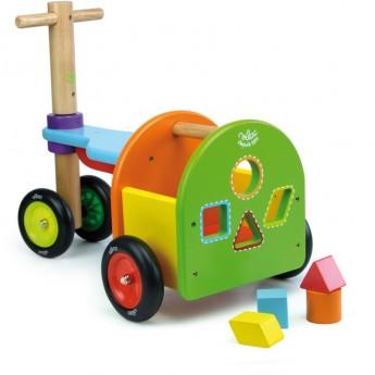 Jeździk drewniany z bagażnikiem dla dzieci od 12 mc, Vilac