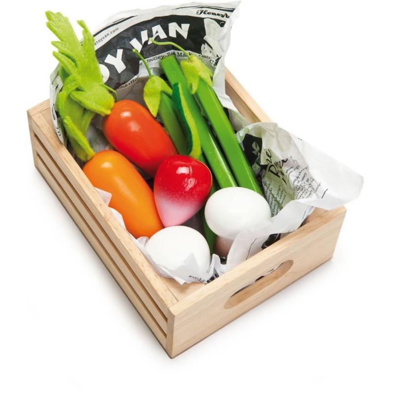 Le Toy Van Warzywa drewniane w skrzynce do zabawy