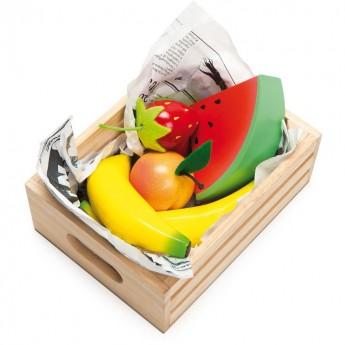 Le Toy Van Owoce drewniane w skrzynce do zabawy