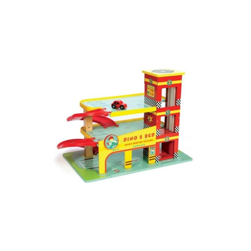 Garaż czerwony Dinos, Le Toy Van