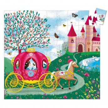 Powóz Księżniczki puzzle 54 elementy, Djeco
