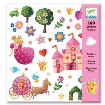 Naklejki Księżniczki 160szt, Djeco