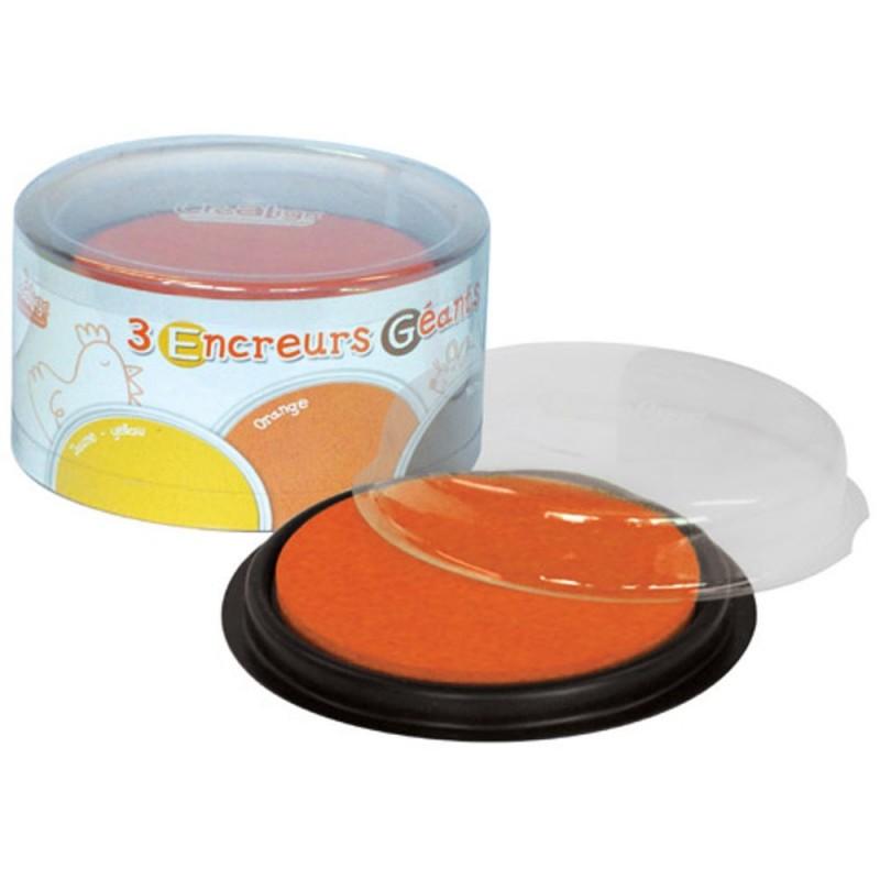 Zmywalny tusz do stempli Pomarańczowy-Żółty-Brązowy, Crea Lign'