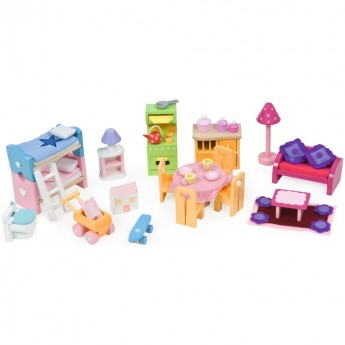 Mebelki Deluxe do domków dla lalek, Le Toy Van