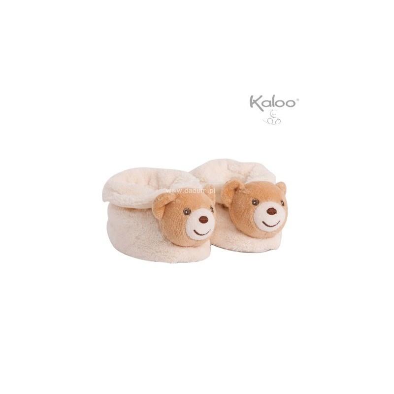 Buciki niechodki dla niemowląt kremowe Plume, Kaloo