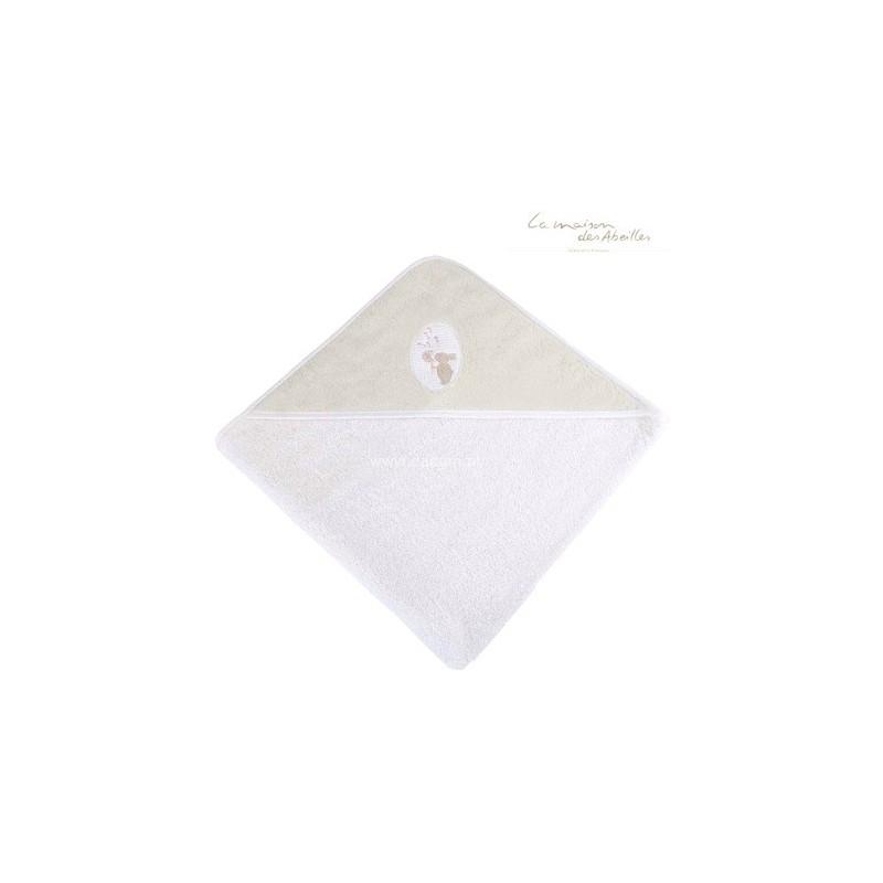 Ręcznik z kapturkiem 80x80cm Królik ecru, La Maison des Abeilles