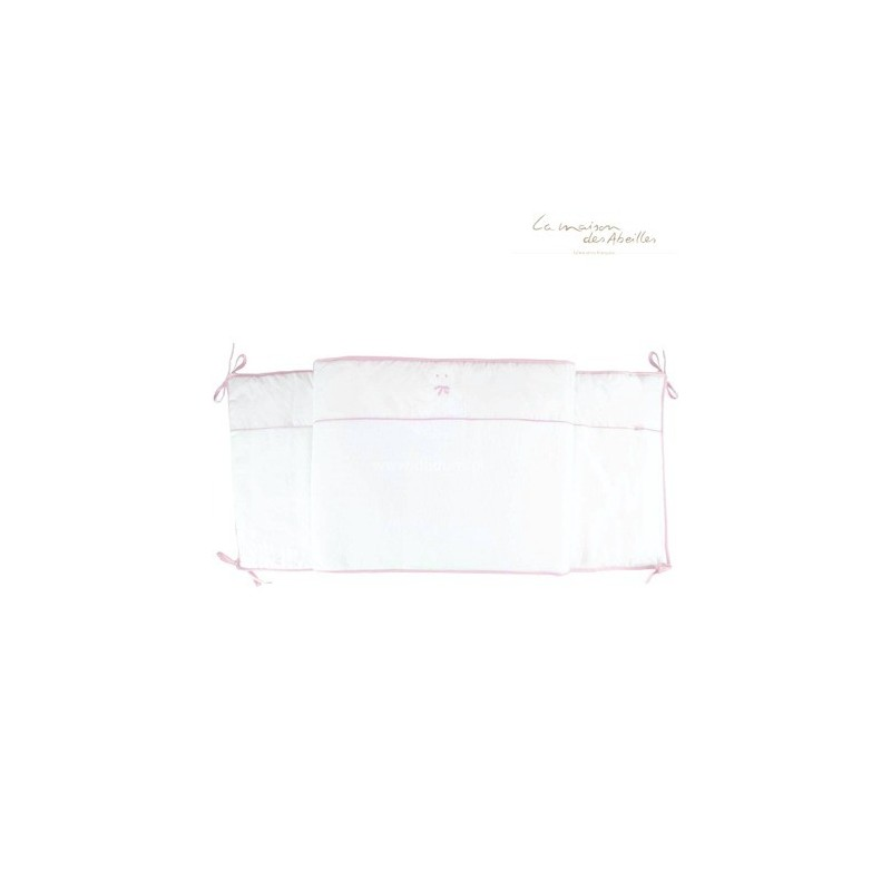 Ochraniacz do łóżeczka 50x180cm Miś różowy, La Maison des Abeilles