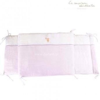 Ochraniacz do łóżeczka 50x180cm Królik różowy, La Maison des Abeilles