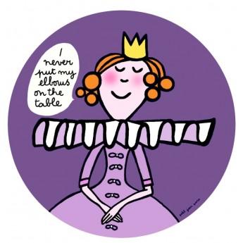 """Talerzyk """"Nie opieram"""" Księżniczki dla niemowląt, Petit Jour"""