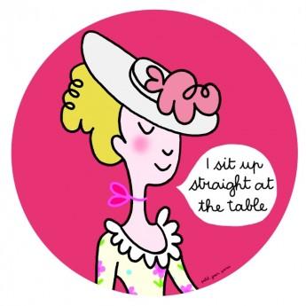 """Talerzyk """"Siedzę"""" różowy Księżniczki dla dziecka, Petit Jour"""