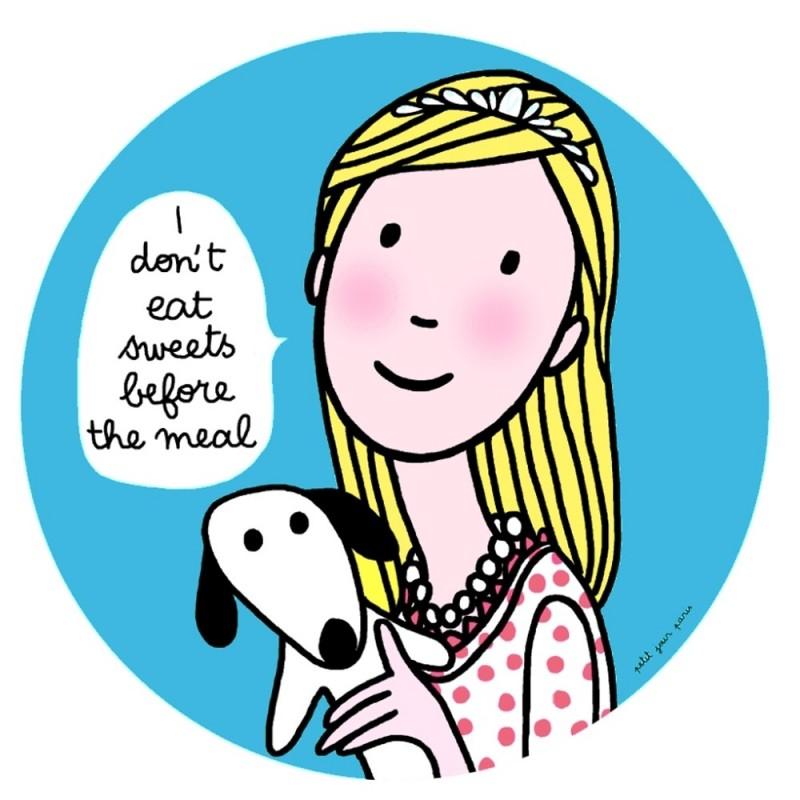 """Talerzyk """"Słodycze"""" Księżniczki dla niemowląt, Petit Jour"""