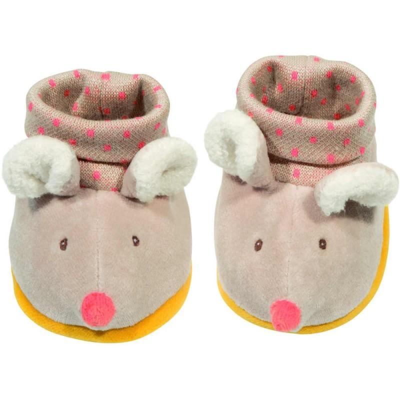 Buciki niechodki dla niemowląt Myszki, Moulin Roty