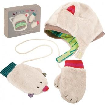 Czapka i rękawiczki Kotek, Moulin Roty