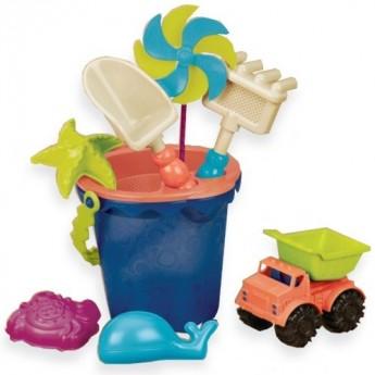 Zestaw plażowy Sands Ahoi! niebieski, B.Toys