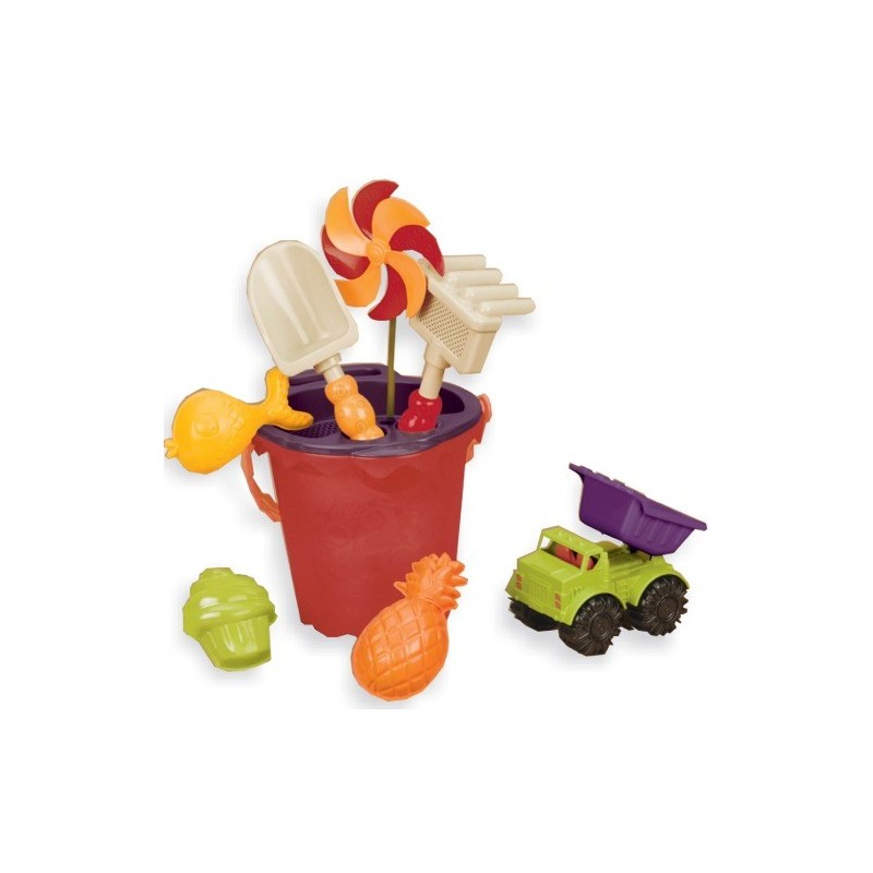 Zestaw plażowy Sands Ahoi! pomarańczowy, B.Toys
