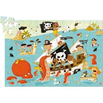 Piraci puzzle 150 elementów drewniane, Vilac