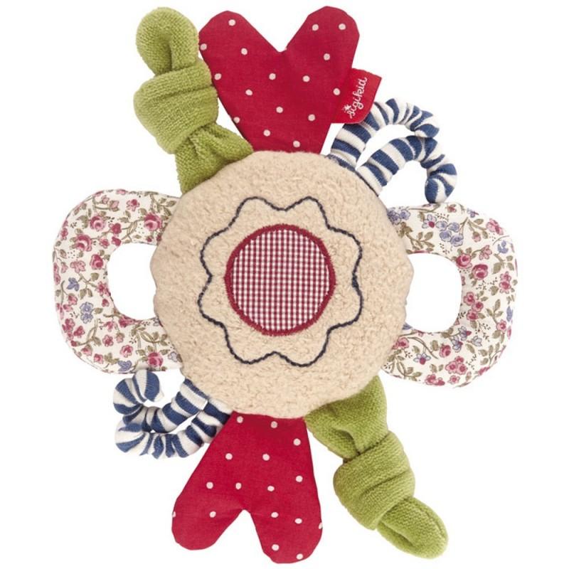 Zabawka organiczna Kwiat z grzechotką 20cm, Sigikid