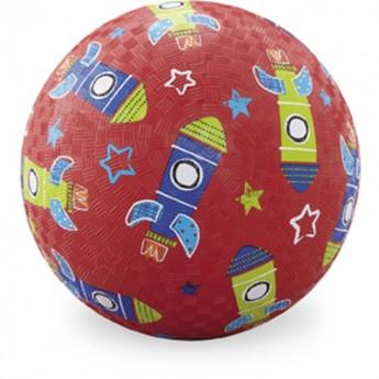 Piłka gumowa dla dzieci 18cm Rakieta, Crocodile Creek